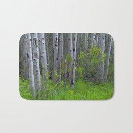 Ghostly Trees Bath Mat