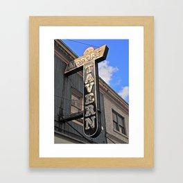 Old tavern sign Framed Art Print