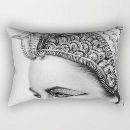 Elizabeth Taylor Cleopatra Portrait Rectangular Pillow