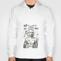 tupac Hoodies featuring Tupac: On the 3rd day HE ROSE A G. by Maddison Bond