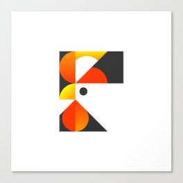 Cubist Rooster Canvas Print