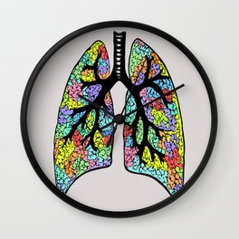 Psychedelic Lungs  Wall Clock