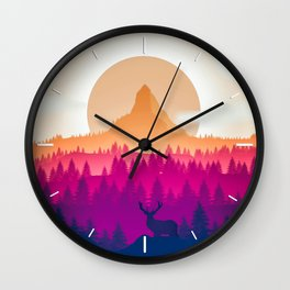 Deer Spotted Wall Clock