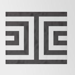 Black Greek Stripes Throw Blanket