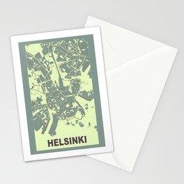 Helsinki, Finland, city map, Mantle grey Stationery Cards