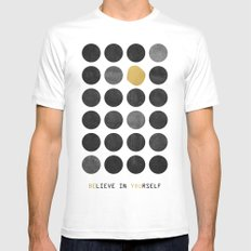 Be You / Gold Version MEDIUM White Mens Fitted Tee