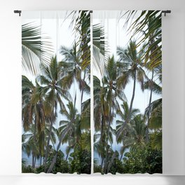 Place of Refuge Palm Trees Blackout Curtain