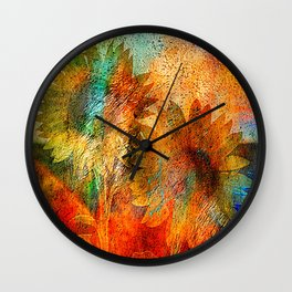 sunflower vintage Wall Clock