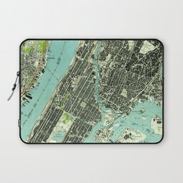 Vintage Central Park & Bronx NY Map (1947) Laptop Sleeve