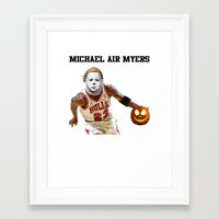 michael myers Framed Art Prints featuring Michael Air Myers by negativecreep