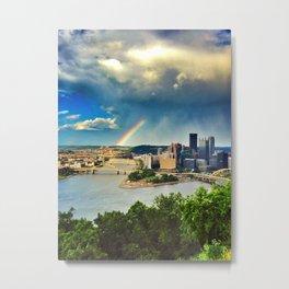 Pittsburgh: Rainbow from Mt. Washington Metal Print