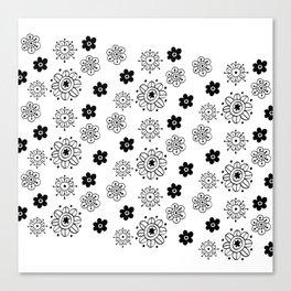 Blossom Doodle Canvas Print