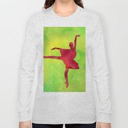 AP121 Watercolor dancer Long Sleeve T-shirt