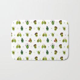 Avocado Pattern - holy guacamole collection Bath Mat