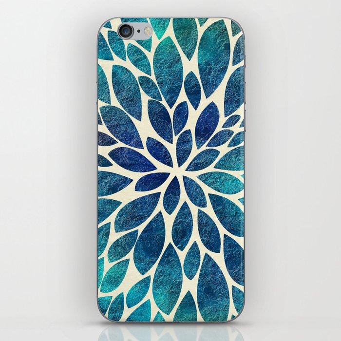 Petal Burst - Turquoise iPhone Skin
