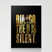 django Stationery Cards featuring Django Unchained by SB Art Productions