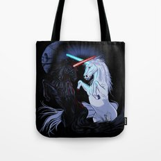 Starwars with unicorns (black) Tote Bag