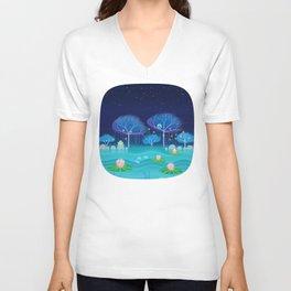 Treescape 3 Unisex V-Neck