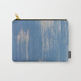 White on Blue Painted Wall Texture Carry-All Pouch