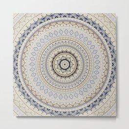 Mandala. Indian decorative pattern Metal Print