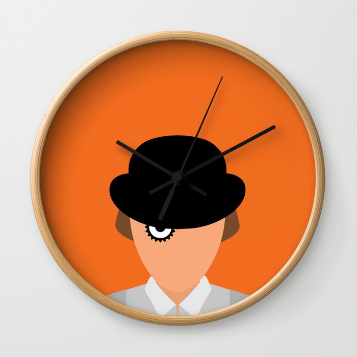 Orange Minimal Wall Clock