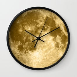 Golden Moonage Wall Clock