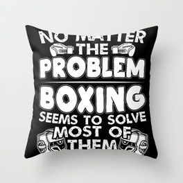Boxer Martial Arts Boxing Solves Most Of The Throw Pillow