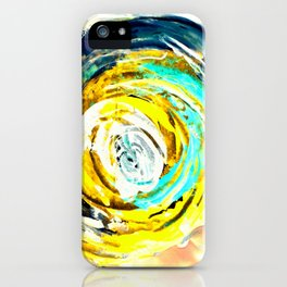 Yellow twister iPhone Case