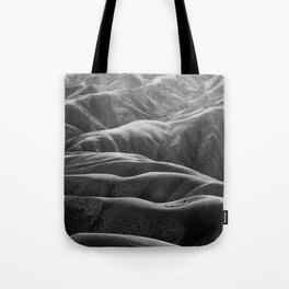 Endless Valleys (Black and White) Tote Bag