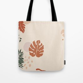 Abstract Plant and Shapes Laptop Case Tote Bag