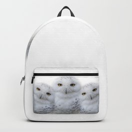 Mother Snowy Owl & Owlets Backpack