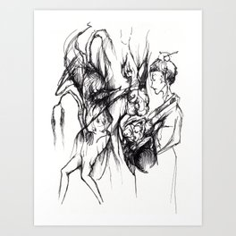 Two kinds of women. Art Print