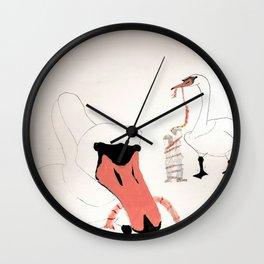 Giant Menacing Swans  Wall Clock