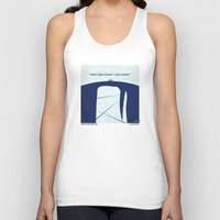 moby dick Tank Tops featuring No267 My MOBY DICK minimal movie poster by Chungkong
