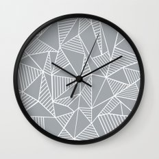 Abstraction Lines Grey Wall Clock