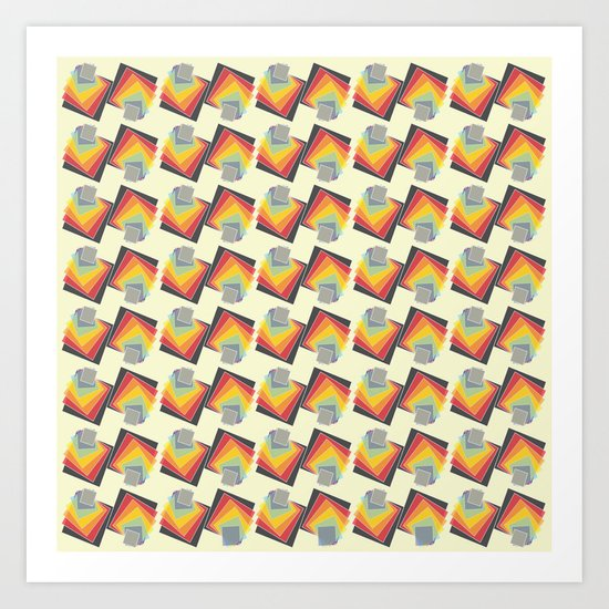 Colour Papers 1 Art Print