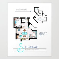 Jerry Seinfeld Apartment Art Print