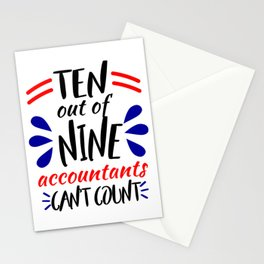 Accountants Can't Count Funny Accounting Design Stationery Cards