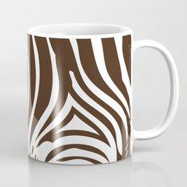 Zebra Stripes | Animal Print | Chocolate Brown and White | Coffee Mug