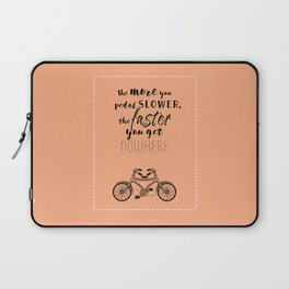 Nowhere. Fast.    (coral) Laptop Sleeve