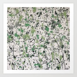 Galaxies of Green Art Print