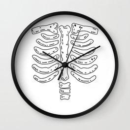 Bone Skeleton Halloween Costume Wall Clock