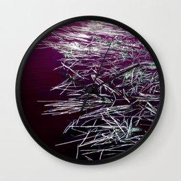 Purple Lake & Silver Reeds Wall Clock