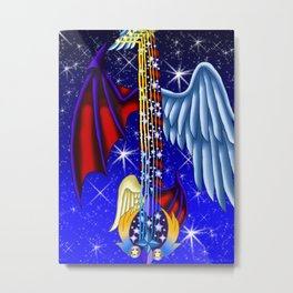 Fusion Keyblade Guitar #165 - Way to the Dawn & Star Seeker Metal Print