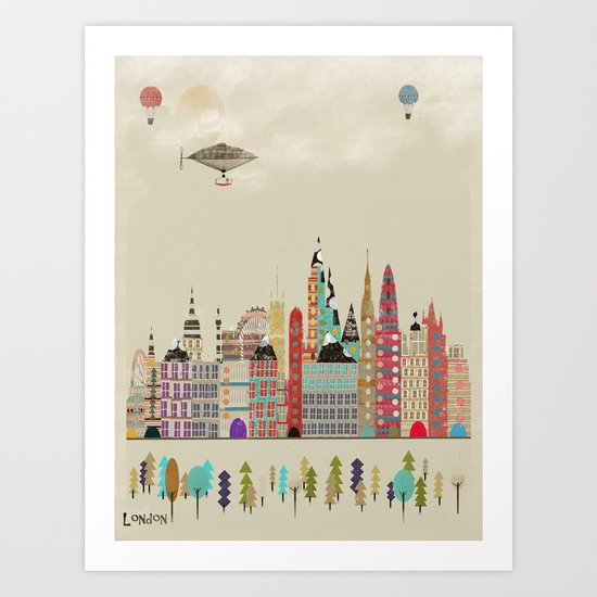 visit london england Art Print