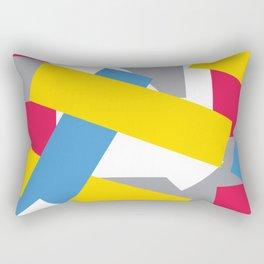 Five Strip Color Pattern 1 Rectangular Pillow