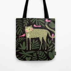 TIGER WITH PINK BIRDS Tote Bag