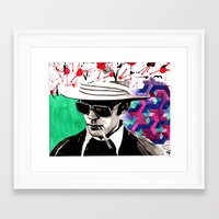 hunter s thompson Framed Art Prints featuring hunter s. thompson by deanna kelii