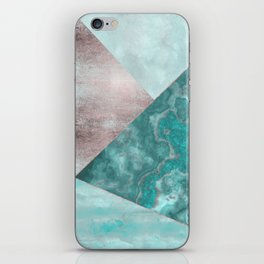 Gemstone And Geode Triangles iPhone Skin