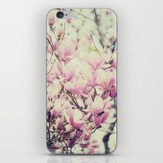 Purple Magnolia Blossoms Spring Botanical iPhone & iPod Skin